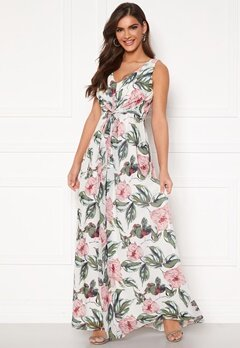 Chiara Forthi Ember Gown White / Pink / Floral Bubbleroom.fi