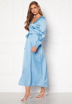 Chiara Forthi Ezra Wrap Maxi Dress Dusty blue Bubbleroom.fi