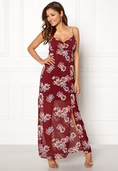 Chiara Forthi Fabienne Dress Wine-red / Floral Bubbleroom.fi