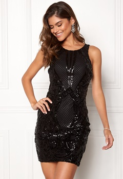 Chiara Forthi Federica sequin dress Black Bubbleroom.fi