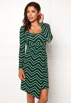 Chiara Forthi Felice dress Black / Bottle green / Offwhite Bubbleroom.fi