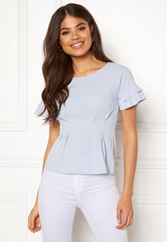 Chiara Forthi Fernanda frill top Light blue Bubbleroom.fi