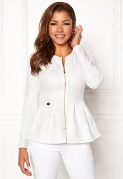 Chiara Forthi Fiona peplum jacket White Bubbleroom.fi