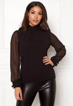 Chiara Forthi Fiore dotted flower top Black Bubbleroom.fi