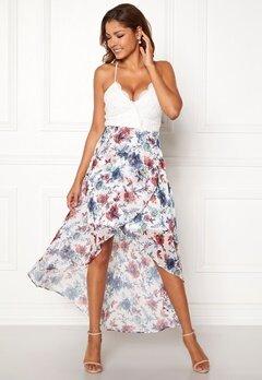 Chiara Forthi Floreale highlow dress Offwhite / Floral Bubbleroom.fi