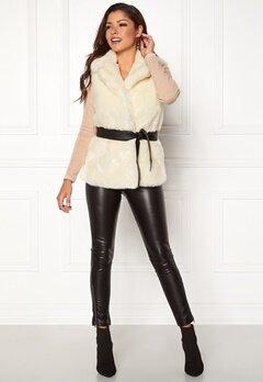 Chiara Forthi Florence Faux Fur Waistcoat Offwhite Bubbleroom.fi