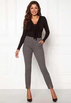 Chiara Forthi Franka jersey sleek pants Beige / Black / Offwhite Bubbleroom.fi