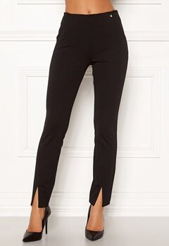 Chiara Forthi Franka jersey sleek pants Black Bubbleroom.fi