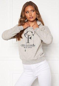 Chiara Forthi Gabriella logo hoody Grey melange Bubbleroom.fi