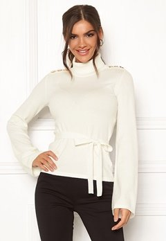 Chiara Forthi Gaby fine knitted tie sweater Offwhite Bubbleroom.fi
