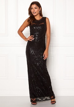 Chiara Forthi Harper gown Black Bubbleroom.fi
