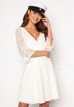 Chiara Forthi Heaven wrap lace dress White Bubbleroom.fi