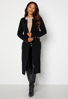 Chiara Forthi Ivy knitted Long Coat Black bubbleroom.fi