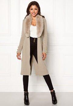 Chiara Forthi Ivy Long Coat Grey-beige Bubbleroom.fi