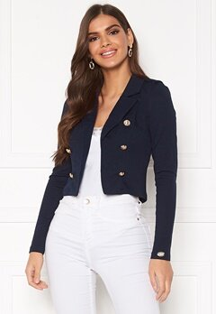 Chiara Forthi Jemma button jersey jacket Navy Bubbleroom.fi