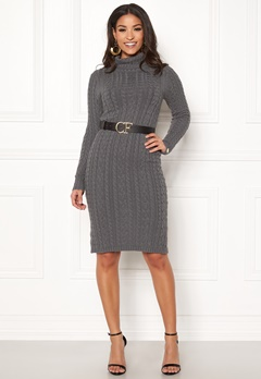 Chiara Forthi Josefina knitted dress Dark grey Bubbleroom.fi