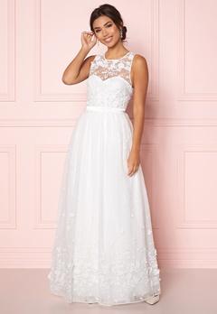 Chiara Forthi Julie flower  gown White Bubbleroom.fi
