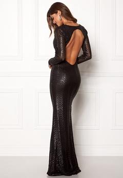 Chiara Forthi Julienne gown Black Bubbleroom.fi