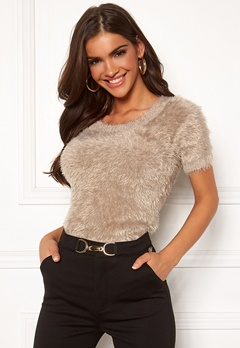 Chiara Forthi Juliette furry sweater Beige Bubbleroom.fi
