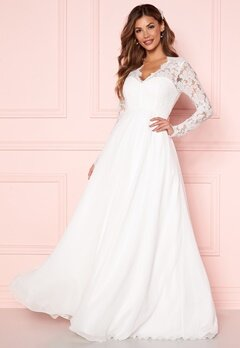 Chiara Forthi Kate lace gown White Bubbleroom.fi