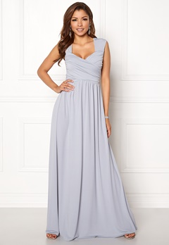 Chiara Forthi Kirily Maxi Dress Light grey Bubbleroom.fi