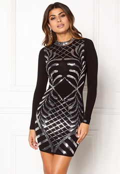 Chiara Forthi Lavinia Sequin Dress Black / Silver Bubbleroom.fi