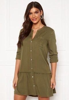 Chiara Forthi Lemonie Shirt Dress Khaki green Bubbleroom.fi