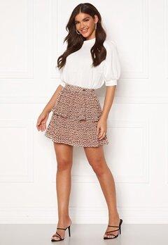Chiara Forthi Leona flounce skirt Dusty pink / Black Bubbleroom.fi