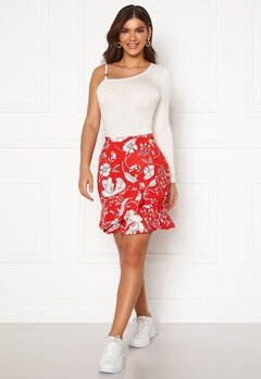 Chiara Forthi Lily flounce skirt Red / White Bubbleroom.fi