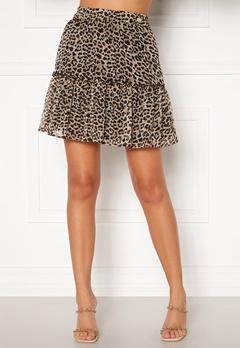 Chiara Forthi Lorenza mini skirt Leopard Bubbleroom.fi