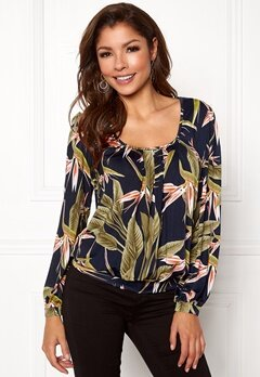 Chiara Forthi Luiza Top Darkblue/green/patterned Bubbleroom.fi