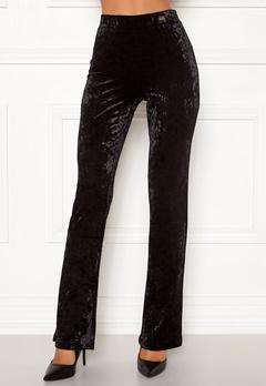 Chiara Forthi Lumina velvet bootcut pants Black Bubbleroom.fi