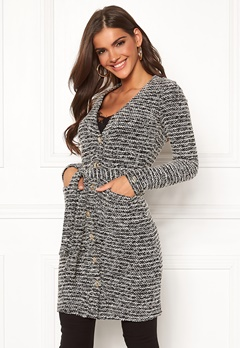 Chiara Forthi Maddalena knitted long coat dress Black / Offwhite Bubbleroom.fi