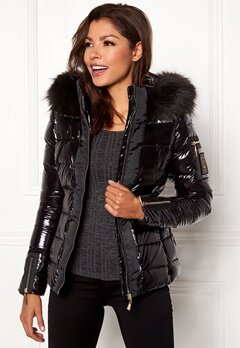 Chiara Forthi Madesimo Highgloss Down Jacket Black Bubbleroom.fi