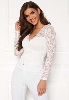 Chiara Forthi Margeaux lace top White Bubbleroom.fi