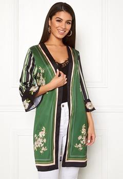 Chiara Forthi Marienela kimono Black / Green / Floral Bubbleroom.fi