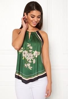 Chiara Forthi Marienela scarfs halterneck Black / Green Bubbleroom.fi