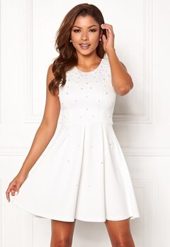 Chiara Forthi Marla pearl dress White Bubbleroom.fi