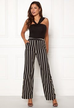 Chiara Forthi Martirir buttoned wide pants Black / Striped Bubbleroom.fi