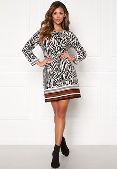 Chiara Forthi Maura Dress Black / Offwhite / Brown Bubbleroom.fi