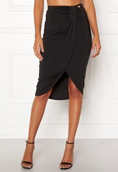 Chiara Forthi Mauritius wrap skirt Black Bubbleroom.fi