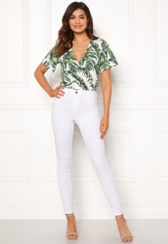 Chiara Forthi Mauritius wrap top White / Green / Patterned Bubbleroom.fi