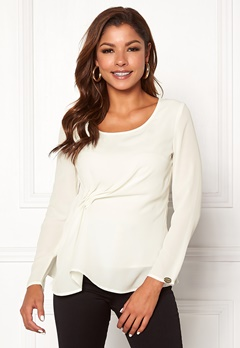 Chiara Forthi May draped top Winter white Bubbleroom.fi
