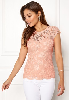 Chiara Forthi Michelle Lace Top Old rose Bubbleroom.fi
