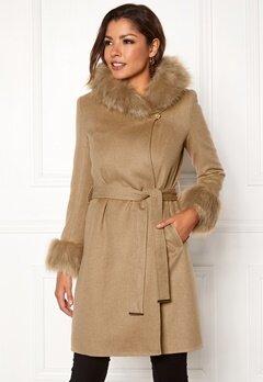 Chiara Forthi Monterosso Fur Coat Camel Bubbleroom.fi