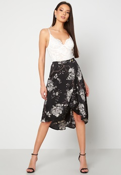 Chiara Forthi Nadia wrap skirt Black / Patterned Bubbleroom.fi