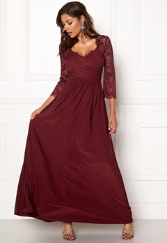Chiara Forthi Nathalia Maxi Dress Wine-red Bubbleroom.fi