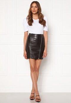 Chiara Forthi Negroni faux leather skirt Black Bubbleroom.fi