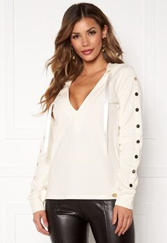 Chiara Forthi Nerina buttoned Hoody Offwhite Bubbleroom.fi