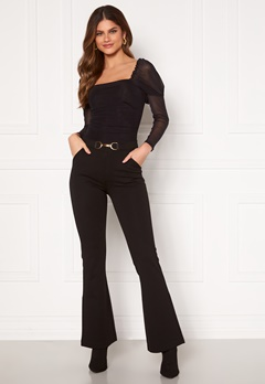 Chiara Forthi Nicola boot cut pants Black Bubbleroom.fi